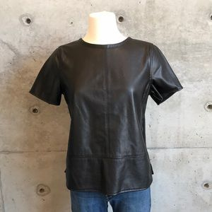 LOFT Vegan Leather Top